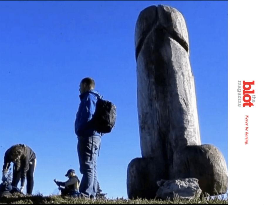 In Bavarian Mountains, Random Giant Phallus Replaces Smaller Giant Phallus