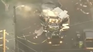 LAPD Bomb Truck Explodes After Raiding Illegal Fireworks